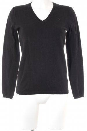 Tommy Hilfiger V-Neck Sweater black casual look