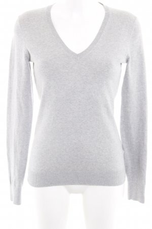 Tommy Hilfiger V-Neck Sweater silver-colored flecked casual look