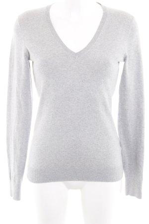 Tommy Hilfiger V-Ausschnitt-Pullover silberfarben meliert Casual-Look