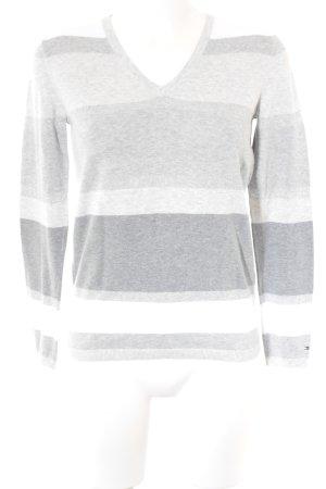 Tommy Hilfiger V-Ausschnitt-Pullover Streifenmuster Casual-Look
