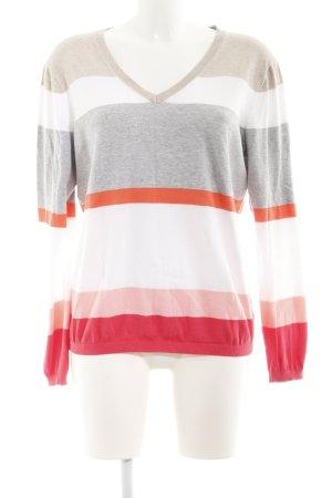 Tommy Hilfiger V-Neck Sweater striped pattern sailor style