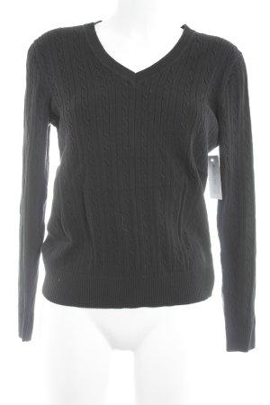Tommy Hilfiger V-Ausschnitt-Pullover taupe klassischer Stil