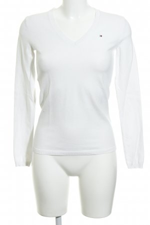 Tommy Hilfiger V-Neck Sweater natural white-white business style