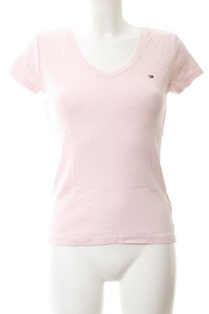 Tommy Hilfiger T-shirt col en V rosé style décontracté