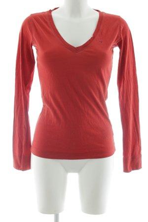 Tommy Hilfiger V-Ausschnitt-Shirt rostrot Casual-Look