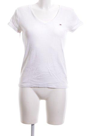 Tommy Hilfiger V-Ausschnitt-Shirt weiß Casual-Look