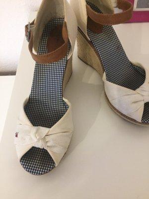 Tommy Hilfiger Wedge Sandals white-brown
