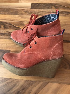 Tommy Hilfiger Wedge Booties multicolored suede
