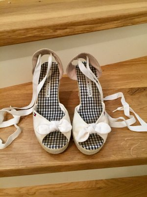Tommy Hilfiger Wedge Sandals white-beige