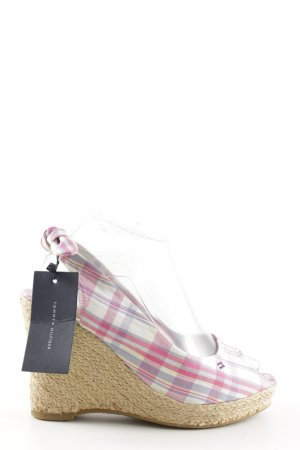 Tommy Hilfiger Wedge Sandals check pattern casual look