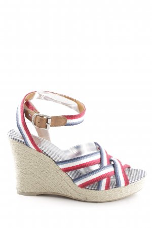 Tommy Hilfiger Wedge Sandals striped pattern casual look