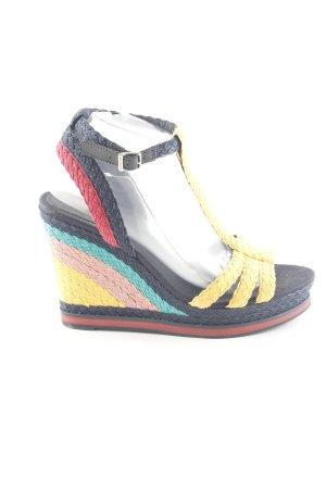 Tommy Hilfiger Wedge Sandals striped pattern elegant