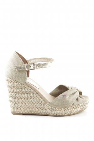 Tommy Hilfiger Wedges Sandaletten wollweiß Casual-Look