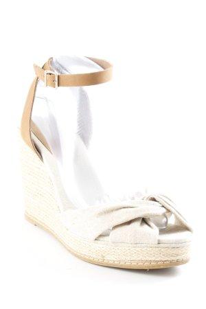 Tommy Hilfiger Wedges Sandaletten beige-hellbraun klassischer Stil