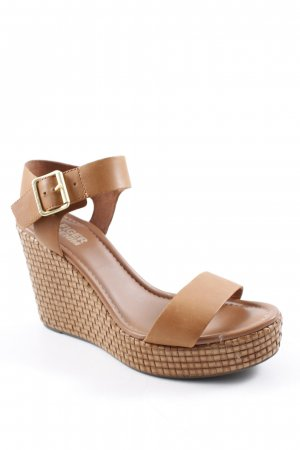 Tommy Hilfiger Wedge Sandals cognac-coloured Boho look