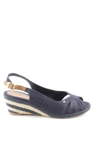 Tommy Hilfiger Wedges Sandaletten neonblau Street-Fashion-Look