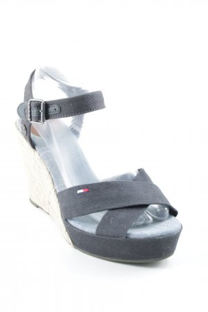Tommy Hilfiger Wedge Sandals dark blue-azure beach look