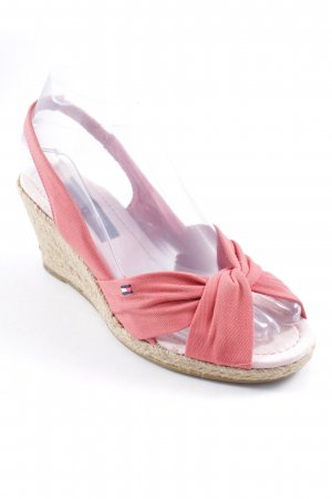 Tommy Hilfiger Wedge Sandals salmon-pink casual look
