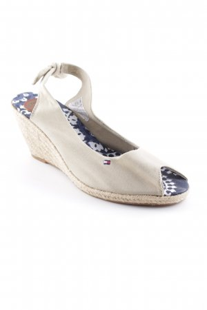 Tommy Hilfiger Wedge Sandals sand brown beach look