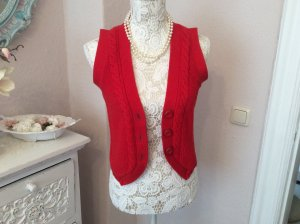Tommy Hilfiger Knitted Vest red cotton