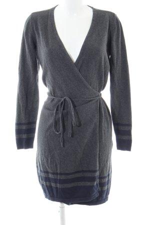Tommy Hilfiger Robe portefeuille gris clair-bleu moucheté style décontracté