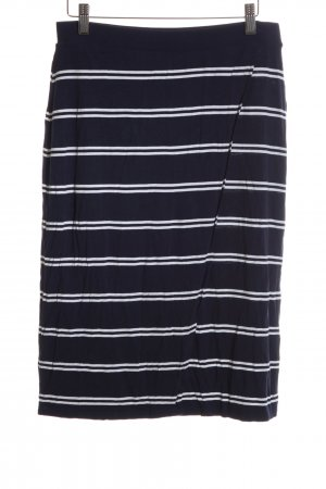 Tommy Hilfiger Wraparound Skirt black-white striped pattern casual look