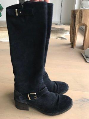 Tommy Hilfiger Wildleder Stiefel in navy blau