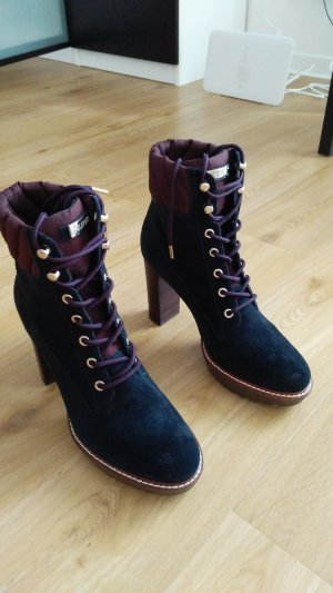 Tommy Hilfiger Lace-up Booties dark blue
