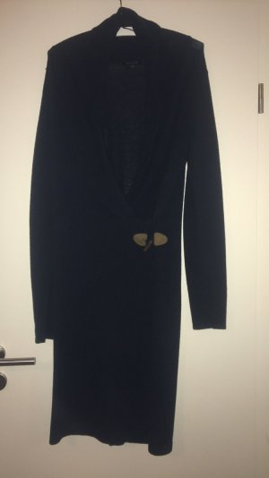 Tommy Hilfiger Vestido de lana negro-camel Lana