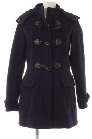 Tommy Hilfiger Abrigo de lana azul oscuro-rojo moteado look casual