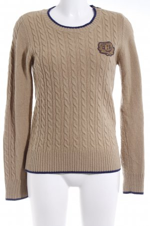 Tommy Hilfiger Wollpullover beige Casual-Look