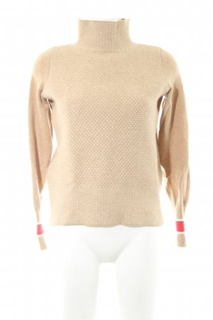 Tommy Hilfiger Wollpullover camel-rot Casual-Look
