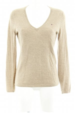 Tommy Hilfiger Wollpullover camel Webmuster Casual-Look