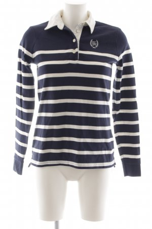 Tommy Hilfiger Wollen trui donkerblauw-wit casual uitstraling