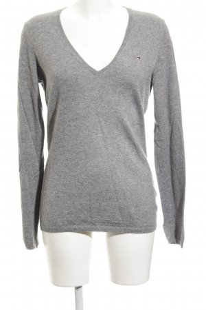 Tommy Hilfiger Wollpullover grau meliert Casual-Look
