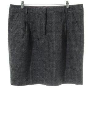 Tommy Hilfiger Falda de lana negro-gris claro estampado a cuadros look casual