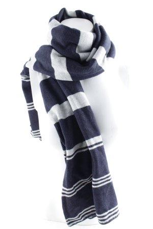 Tommy Hilfiger Bufanda de lana azul oscuro-gris claro estampado a rayas