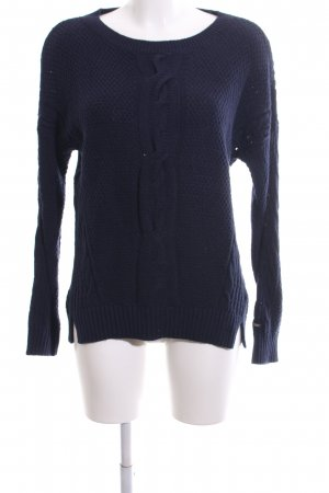 Tommy Hilfiger Cable Sweater blue cable stitch casual look