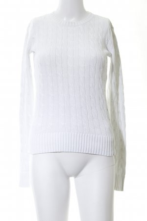 Tommy Hilfiger Cable Sweater white cable stitch casual look