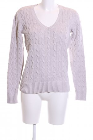Tommy Hilfiger Cable Sweater lilac cable stitch casual look