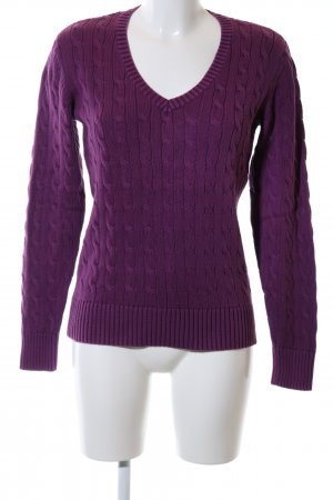 Tommy Hilfiger Cable Sweater lilac casual look