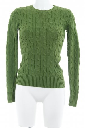 Tommy Hilfiger Cable Sweater grass green cable stitch casual look