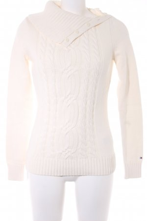Tommy Hilfiger Zopfpullover hellbeige Zopfmuster Casual-Look