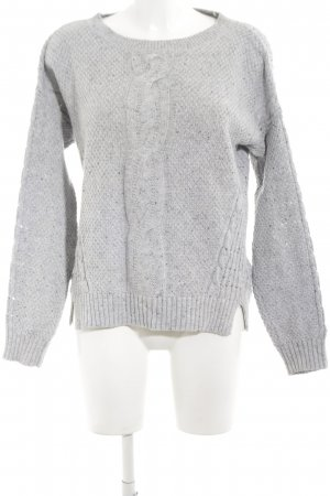 Tommy Hilfiger Zopfpullover hellgrau Zopfmuster Casual-Look