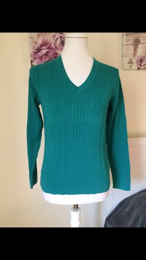 Tommy Hilfiger Cable Sweater cadet blue cotton