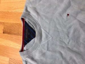 Tommy Hilfiger Oversized Sweater baby blue cotton