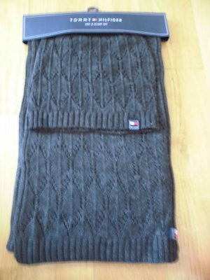 Tommy Hilfiger Chapeau en tricot taupe synthétique