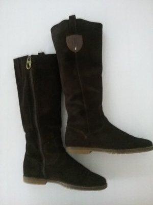 Jackboots black brown-dark brown leather