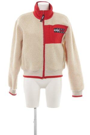 Tommy Jeans Bomberjack room-rood atletische stijl
