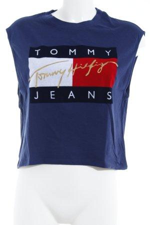 Tommy Jeans Top corto blu scuro stile atletico